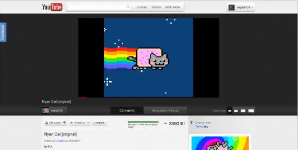 Volver a anterior Versión o interfaz de Youtube