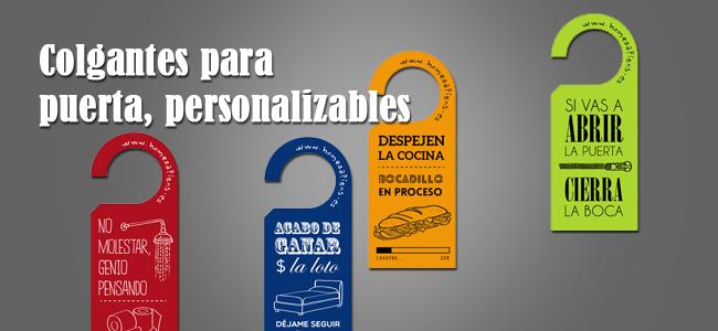 Colgadores para puertas personalizables